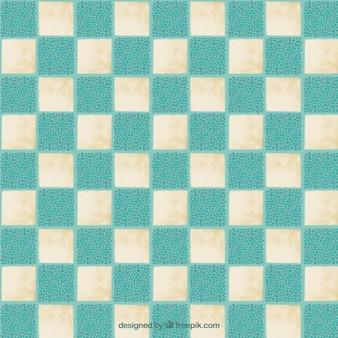 Pintados à mão padrão xadrez