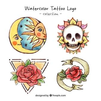Pintados à mão tatuagens artísticas