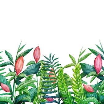 Pintar fundo botânico