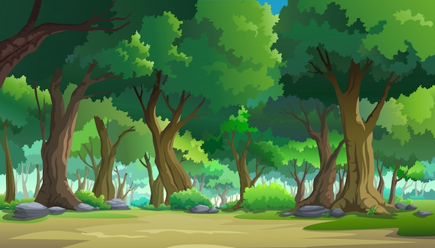 Pintar ilustrações na natureza e natural