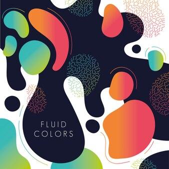 Pintar o fundo de cores fluidas