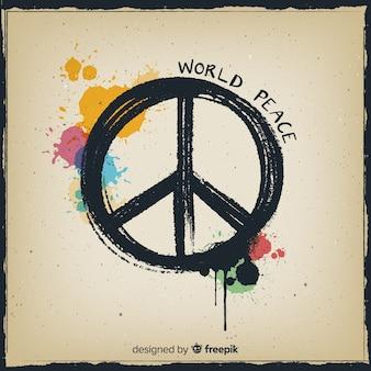 Pinte o fundo do sinal de paz