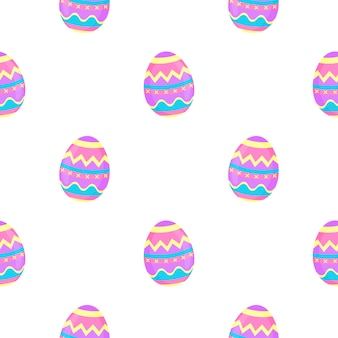 Pinte ovos padrão sem emenda. fundo decorativo para a páscoa