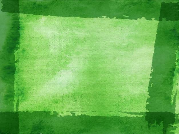 Pintura à mão de fundo aquarela verde abstrato