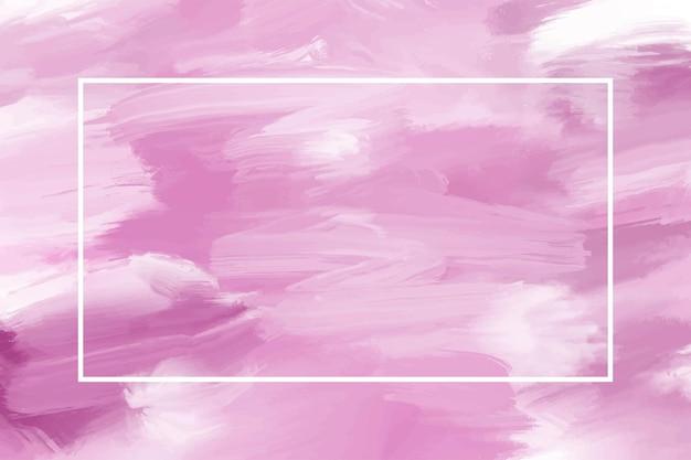Pintura a óleo rosa pastel em fundo de tela