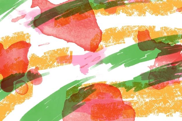 Pintura abstrata com linhas coloridas