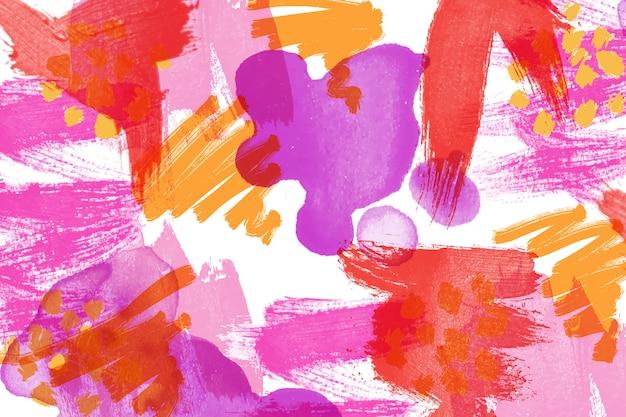 Pintura abstrata em estilo colorido