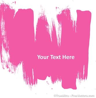 Pintura abstrata rosa