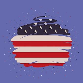 Pintura da bandeira de estados unidos da américa