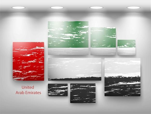 Pintura de bandeira na galeria