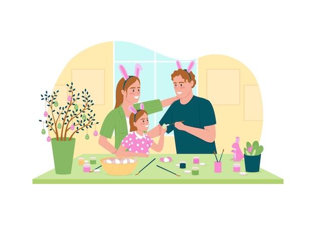Pintura de banner web 2d de ovos de páscoa, pôster