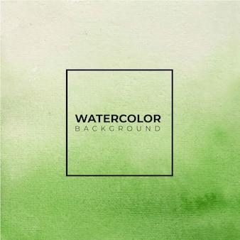 Pintura de mão verde textura aquarela abstrata.
