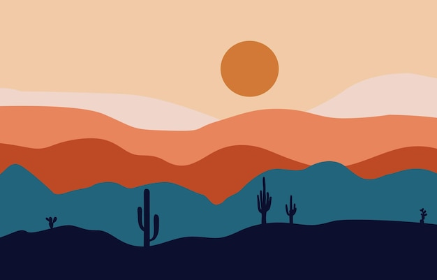 Pintura de terra do deserto ou fundo árido