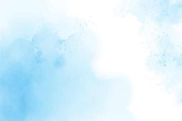 Pintura digital de fundo azul aquarela abstrata nublado céu azul