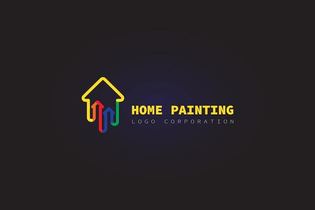 Pintura do logotipo da casa