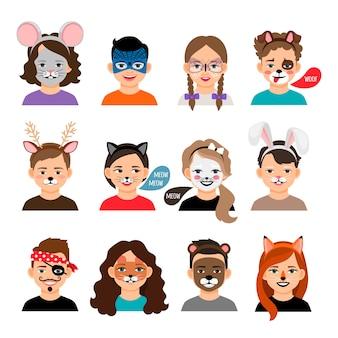 Pintura facial crianças
