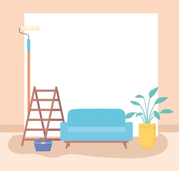 Pintura para reforma da casa