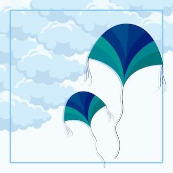 Pipas voando no céu