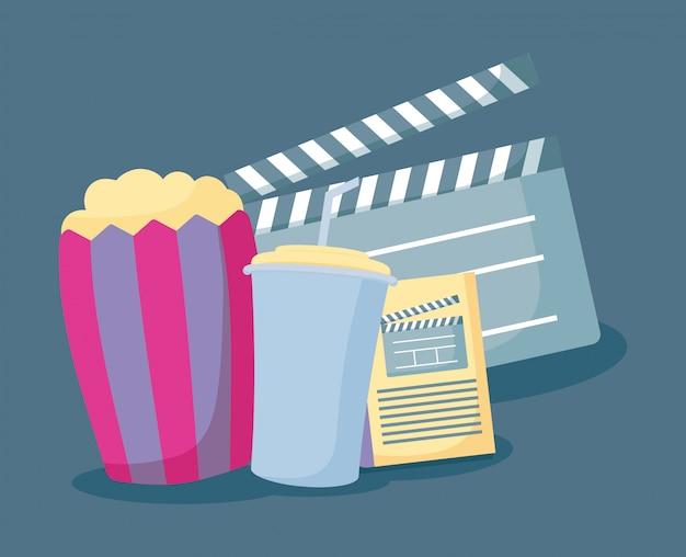 Pipoca com conjunto de cinema