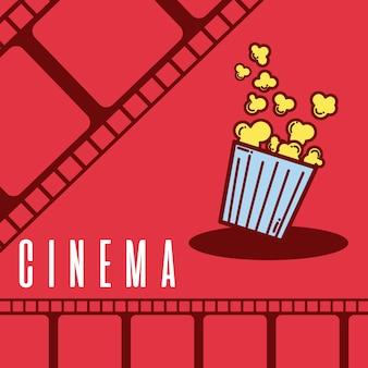 Pipoca de cinema dos desenhos animados