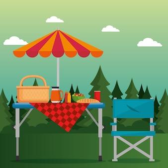 Piquenique de verão ao ar livre