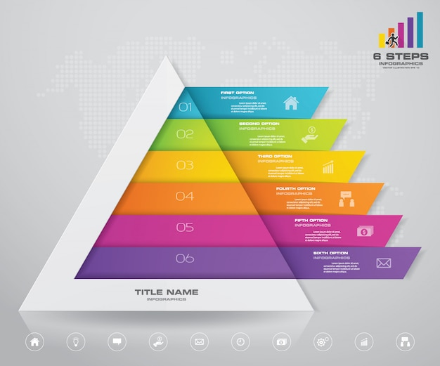 Pirâmide com espaço livre para texto em cada nível.