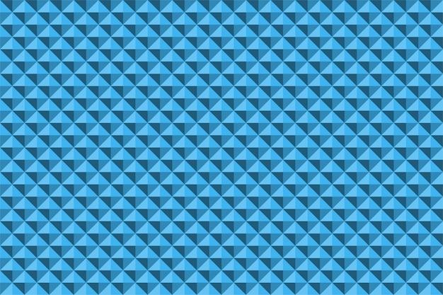Pirâmide de relevo abstrato azul textura sem costura padrão