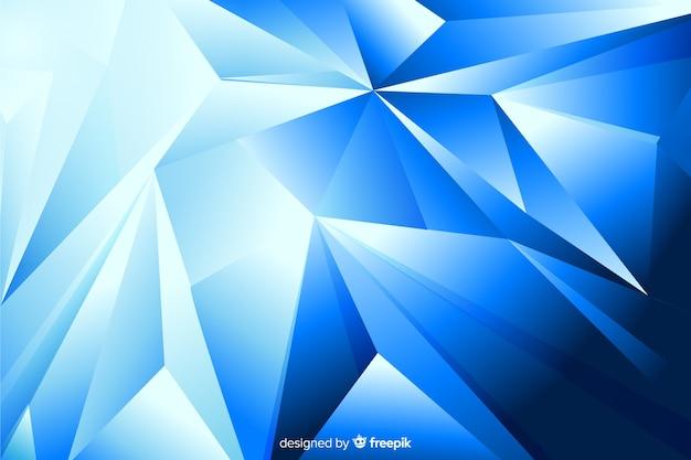 Pirâmides abstratas sobre fundo de tons de azul