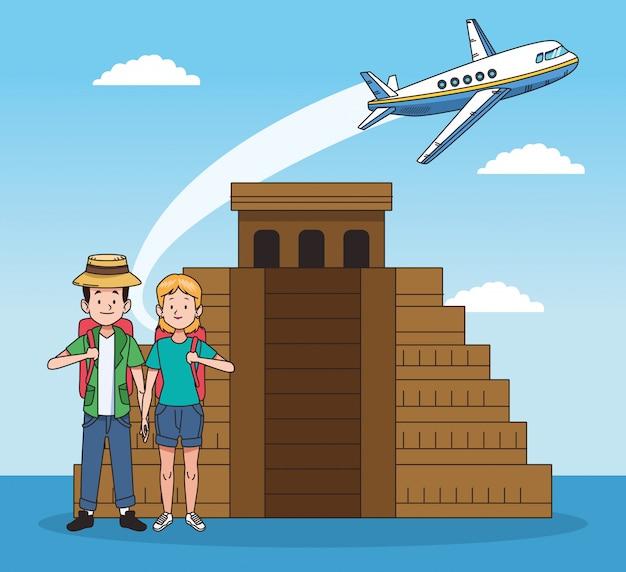 Pirâmides e design de viagens pelo mundo