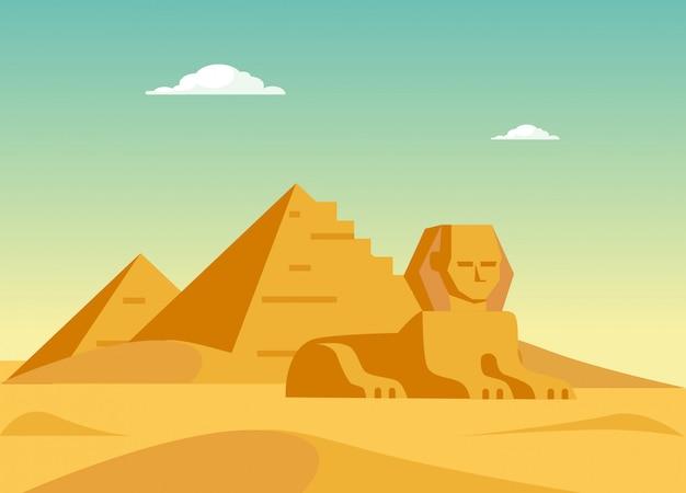 Pirâmides e sphynx