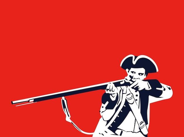 Pirata apontando com rifle