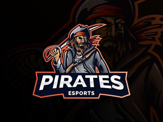 Pirata de emblema profissional moderno