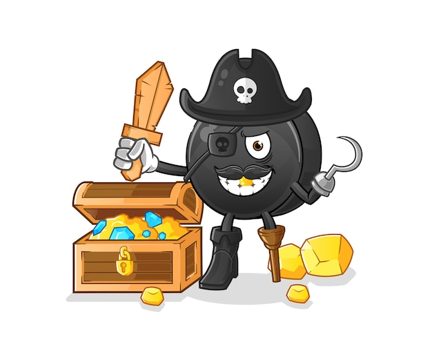 Pirata de frutas com tesouro