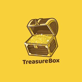 Pirata de madeira da caixa do baú do tesouro