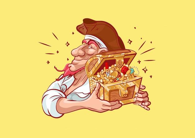 Pirata de personagem de desenho animado