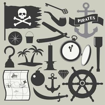 Pirata jogo de elemento