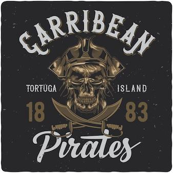 Pirata morto no chapéu.