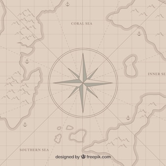 Pirata, tesouro, mapa, compasso