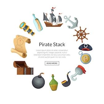 Piratas do mar dos desenhos animados