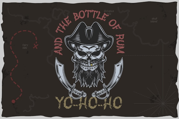 Piratas yohoho - ilustração do vetor de camiseta.