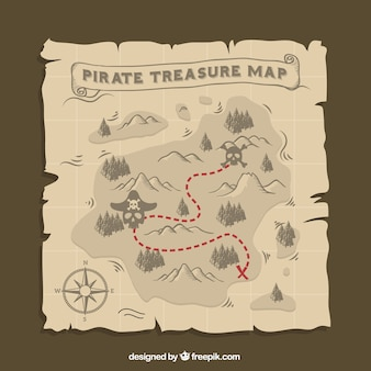 Pirate mapa do tesouro