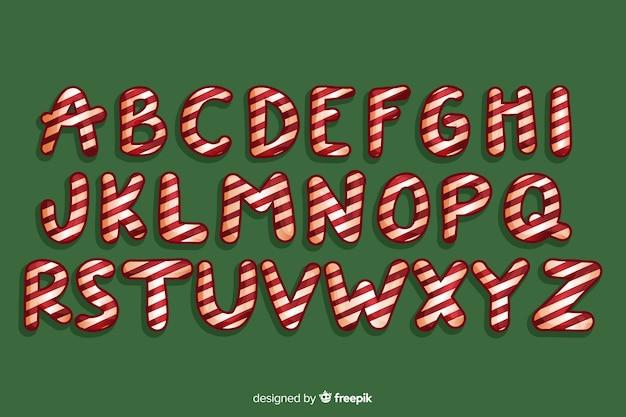 Pirulito doce natal alfabeto