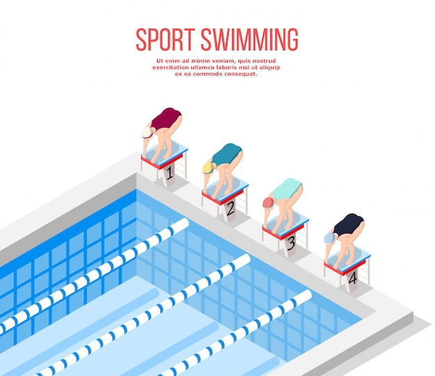 Piscina olímpica natação