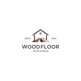 Piso de madeira para o logotipo em casa