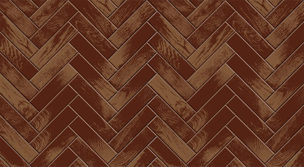 Piso de madeira, parquet vintage realista