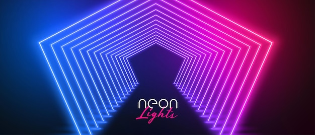 Piso do palco neon nas cores rosa e azul