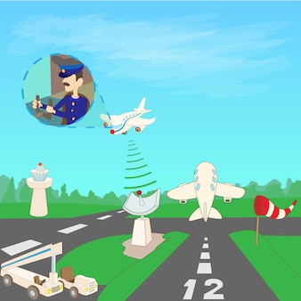 Pista do conceito de aeroporto