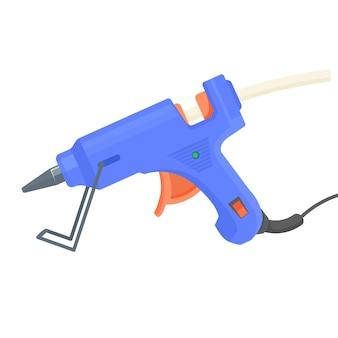 Pistola de cola. equipamento de pistola quente para artesanato e arte. Vetor Premium
