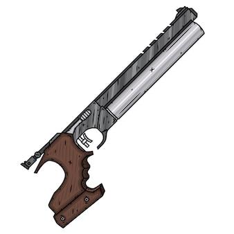 Pistola de esportes. pistola pneumática. pistola pneumática.