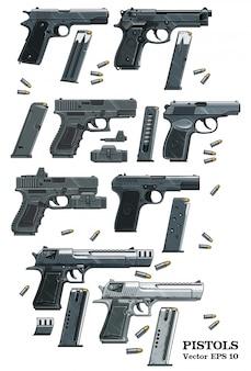 Pistola de pistola com munição